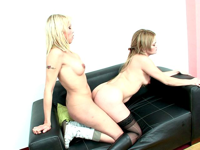 Stimulating Blonde Shemales Tania And Yanina Screwing Their Tight Assholes On The Couch Planet Of Shemales XXX Porn Tube Video Image