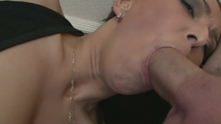 Stimulating Brunette Vixen Getting Anally Fucked By Two Giant Cocks