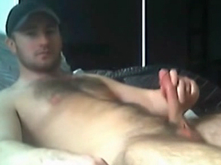 Straight boyfriend exposed on webcam jerking off