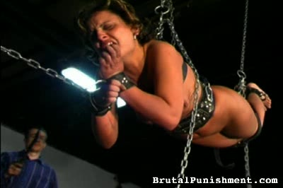 Strung, Chained, Hanging, and Whipped Brutal Punishment XXX Porn Tube Video Image