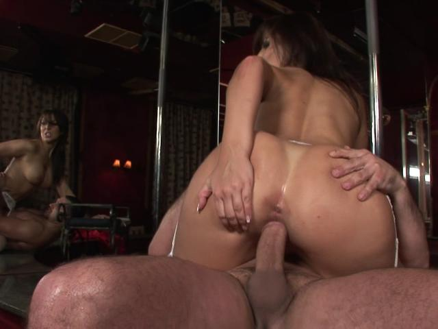 Sublime brunette slut with bubble arse riding a massive shaft
