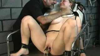 Submissive Angelina punished