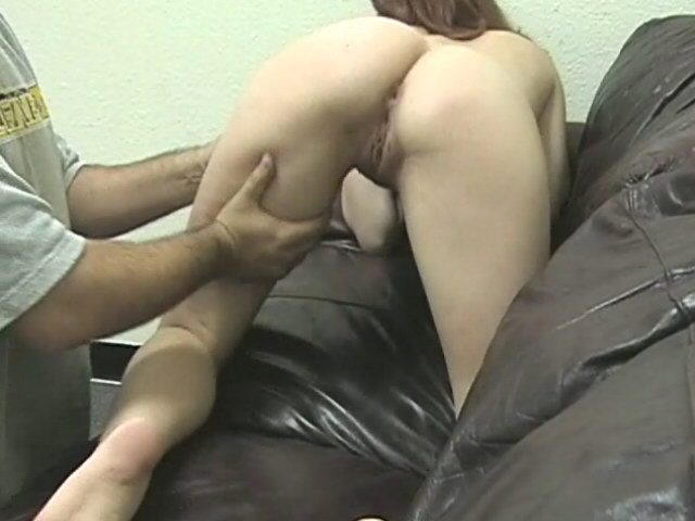 Superb brown haired ex girlfriend Jenni getting tight slit fingered on the couch