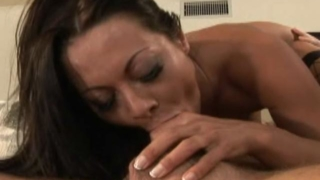 Superb brunette pornstar Sandra Romain touching her perfect body with lust
