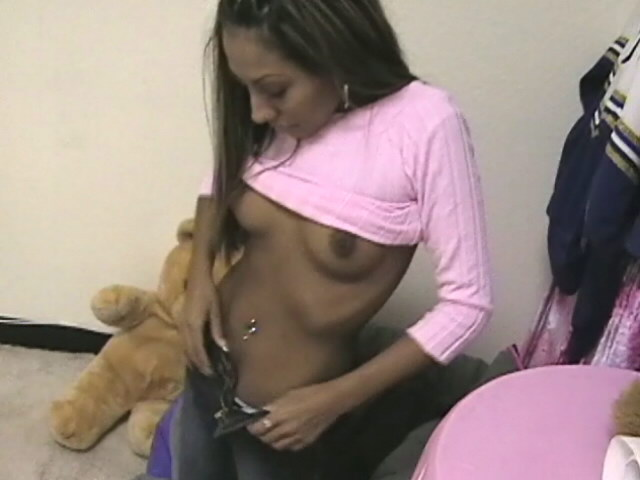 Superb ebony ex girlfriend Jasmyn stripping white bra and jeans