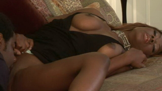 Sweet Chocolate Babe Jackie Brown Jumping A Monster Black Pecker In The Bedroom