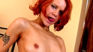 Sweet Fiery Redhead Russian Teen Hottie Kerry Showing Perky Tits And Sexy Thong Upskirt