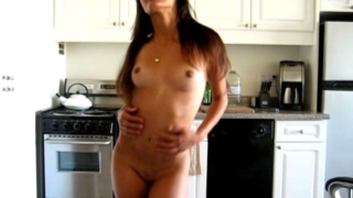 Sweet raven haired exgirlfriend cutie Kaylani teasing with her naked body