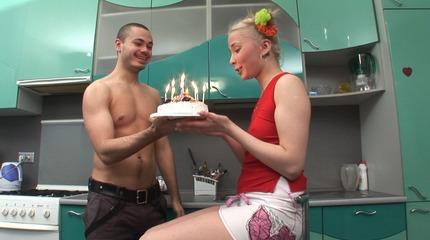 Sweet virgin gets fucked on her 18th birthday