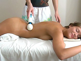 Teen drilled on the massage table Tricky Masseur XXX Porn Tube Video Image
