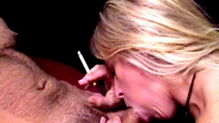 Tempting Blonde Nympho Dia Zerva Smoking And Sucking A Large Dick On Camera