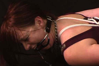 Tied up hot babe Ginger