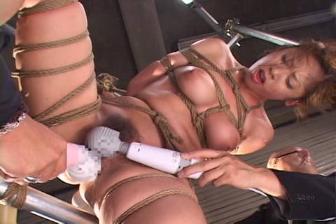 Toys and vibrators used on rope bound woman Asians Bondage XXX Porn Tube Video Image