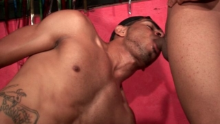 Trashy amateur gay Tony getting anally nailed and giving blowjob to Kaike Montani And Rick Solares