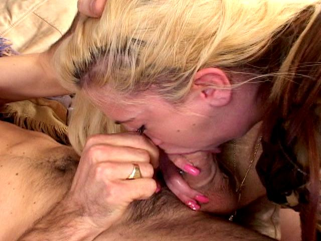 Trashy blonde army chick Britney Madison gives deep throat and gets anally smashed
