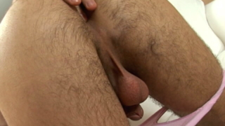 Trashy brunette European twink spreading and fingering his sexy asshole
