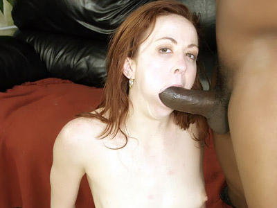 Trinity Post Sucking Off a Black Cock