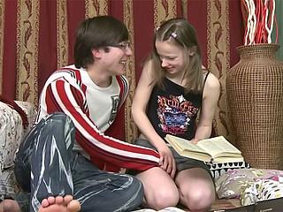 Tutor and teen pupil fuck