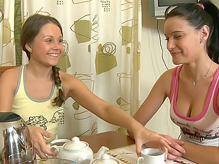 Two lesbian teens having fun together Beauty Angels XXX Porn Tube Video Image