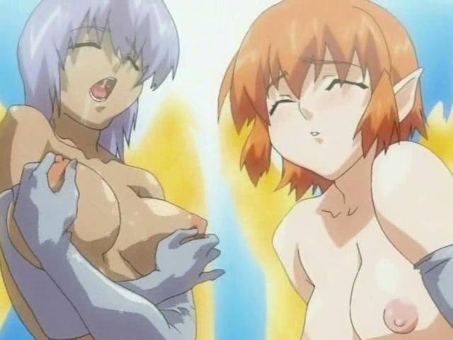 Two naughty hentai shemales touching their amazing breasts Shemales Of Hentai XXX Porn Tube Video Image