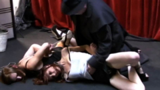 Two slaves in bondage video