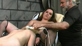Two sub chicks punished