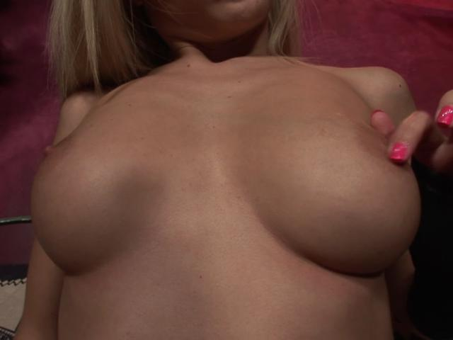 Ultra sexy blonde goddess playing with her round breasts and fuckable quim