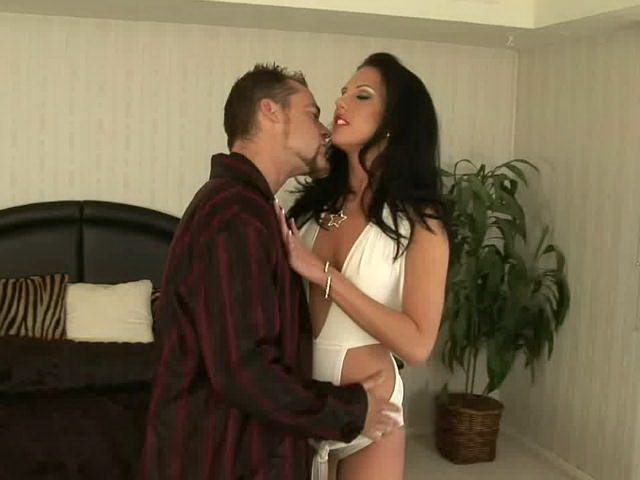 Ultra sexy brunette mature babe Destiny St Claire gets small boobs licked Lovely Matures XXX Porn Tube Video Image