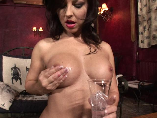 Ultra sexy brunette pornstar spreading ice on her divine breasts Super Sex Stars XXX Porn Tube Video Image