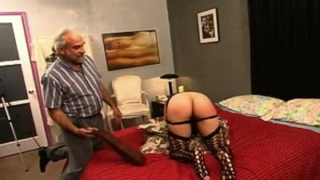 Voluptuous young amateur takes punishment and plays with herself.