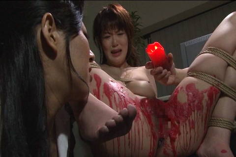 Wax is dripped all over sexy Japanese sub Asians Bondage XXX Porn Tube Video Image