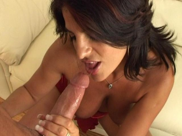 Wild brunette wife sucking a large schlong and getting fucked from behind Erotic Wifes XXX Porn Tube Video Image