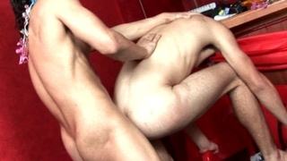 Winsome twinks Kaike Brito And Luiggi Knowles nailing hard their sexy assholes