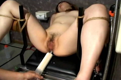 Woman is filled with milk enema and then shaved Asians Bondage XXX Porn Tube Video Image