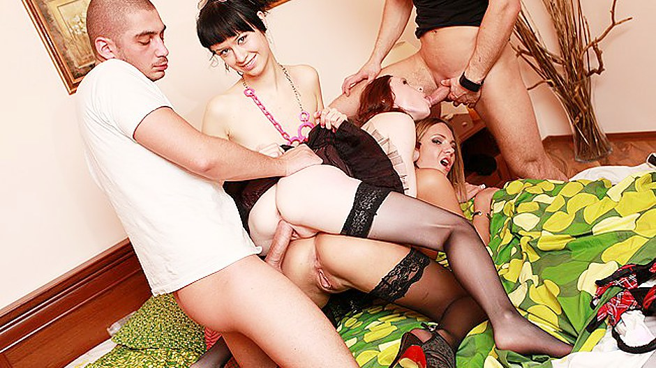 Young girls in stockings roughly banged College Fuck Parties XXX Porn Tube Video Image